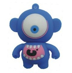 4GB Baby Monster USB 2.0 High Speed Silicon Flash Memory Drive Disk Stick Pen Support Windows and MacOS Great Gift (4GB BLUE) from EASYWORLD