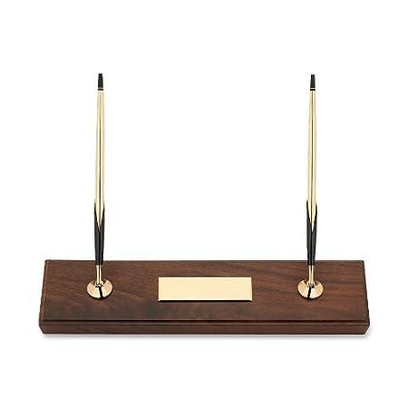Croce doppia finitura noce set da scrivania