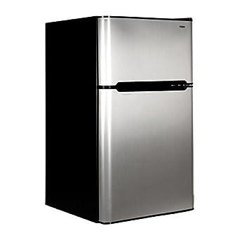Haier HNDE03VS 3.3-Cubic Foot 2 Door Refrigerator/Freezer, Black Cabinet VCM Door