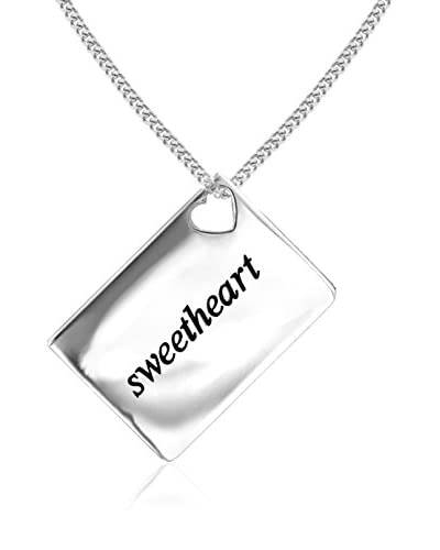 Lily and Lotty Collar Sweetheart' Love Letters 0.01 ct Diamond