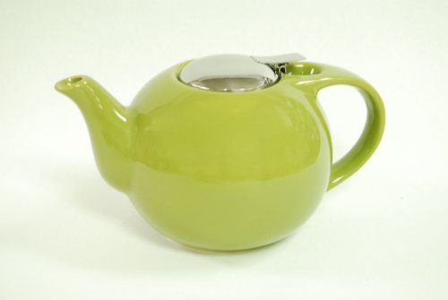 Creative Home 48 oz Ceramic Teapot with S/S Lid & Infuser - Green