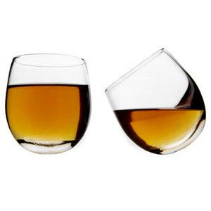 Whisky Rockers Glasses 10.6oz / 300ml - Pack of 2 | Whiskey Tumblers, Rocking Whisky Glasses, Rolling Whisky Glasses, Rounded Bottom Glasses, Whiskey Glasses