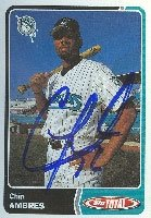 Chip Ambres Jupiter Hammerheads - Marlins Affiliate 2003 Topps Total Autographed Hand... by Hall of Fame Memorabilia
