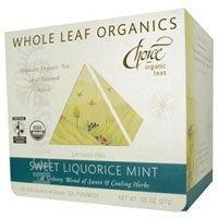 Choice Organic Teas Sweet Liquorice Mint Whole Leaf Organics, 15 Bag