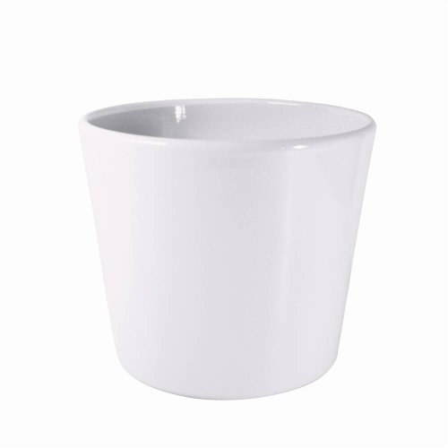 White Ceramic Pot Dida 13 cm