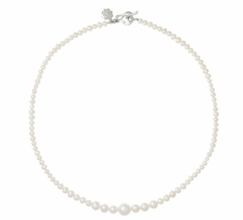 Dower & Hall Pearlicious - Sterling Silver Graduating White Freshwater Pearl 41cm Necklace