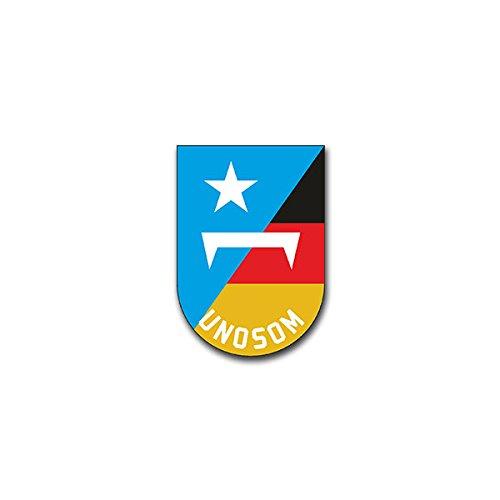 Aufkleber / Sticker - UNOSOM United Nations Operation in Somalia Friedensmission Wappen Abzeichen Emblem passend für Opel Astra Audi A6 VW Passat (7x5cm)#A1322