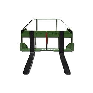 """Titan John Deere 48"""" Pallet Fork Hay Bale Spear Attachment Forklift Front Loader"""