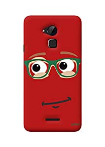 Gobzu Printed Hard Case Back Cover for Coolpad Note 3 - Red Smiley