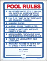 Pentair R230200 California Pool Rules Pool Sign