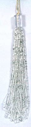 Jim Marvin Collection 13 White Beaded Sequin Tassel Home
