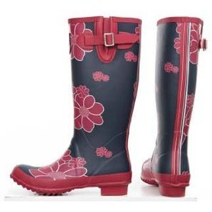 Sherwood Forest Ladies Rosebury Flower Print Wellington Boots