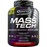 Muscletech Performance Series Mass Tech Strawberry 7lb Weight Gainer