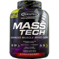 Muscletech Performance Series Mass Tech Weight Gainer, Strawberry, 7Lb