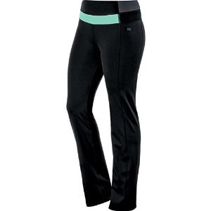 Asics 125877 Womens Fit-Sana Slim Pant, Performance Black/Aq