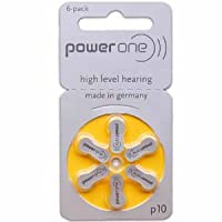 Hearing Aid Battery (60 pack) Powerone size 10 made in Germany Genuine Pack
