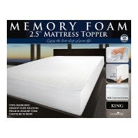 ComforZen 2.5in Memory Foam Mattress Topper - King