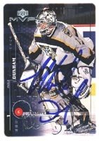 Buy Mike Dunham Nashville Predators 1999 Upper Deck MVP Autographed Hand Signed Trading Card. by Hall of Fame Memorabilia