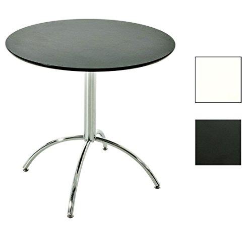 CLP-Bistro-Tisch-rund--80-cm-MARVILLE-Holz-Metall-Hhe-75-cm-FARBWAHL-schwarz