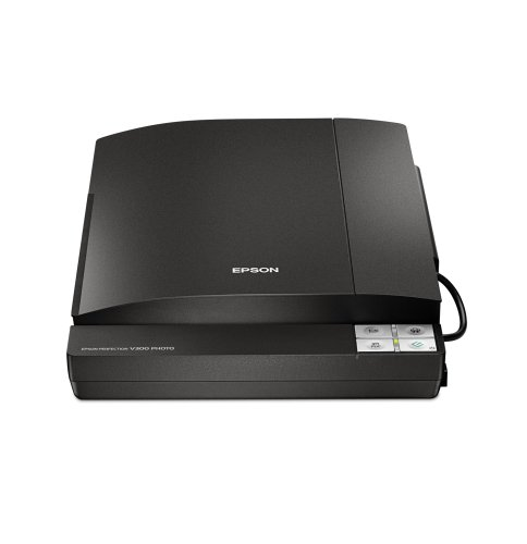 Epson Perfection V300 Photo Color Scanner (Black)