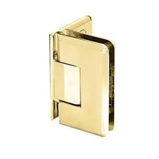 CRL Satin Brass Cologne 044 Series Wall Mount Offset Back Plate Hinge