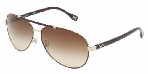 D&G 6078 101813 Tortoise Gold 6078 Aviator Sunglasses Lens Category 2