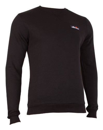 Ellesse Heritage Serve Sweatshirt Mens Sweaters Sweatshirts Casual Sportswear Sports Tops Training Leisure Retro Jumpers Man Black XXL 2XL