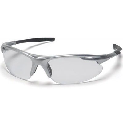 Pyramex Avante Safety Eyewear, Clear Lens With Silver Frame