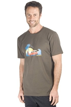 Mountain Warehouse Mens Life's A Beach Tee Shirt