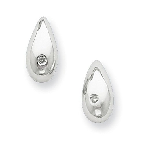 Sterling Silver White Ice .01ct. Diamond Earrings. Comes in a lovely Gift Box