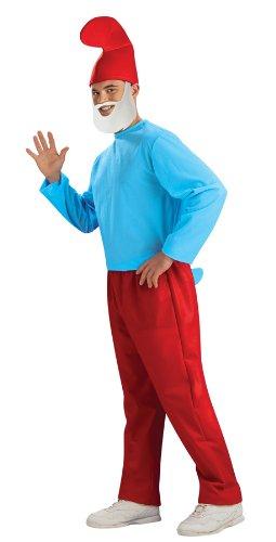Smurfs Papa Smurf Costume, Red/Blue, Standard