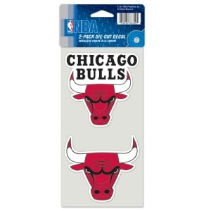 NBA Chicago Bulls Perfect Cut Decal (Set of 2), 4