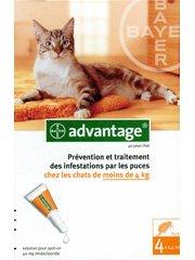 Bayer Advantage 40 Antifleas Solution for Cats Under 4kg 4x0.4ml