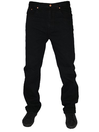 New Mens Black AZTEC BASIC Designer Regular Fit Jeans Size W36 L27
