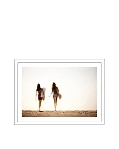 Photos.com by Getty Images Curvy Silhouettes Of 2 Women Heading Out For A Surf