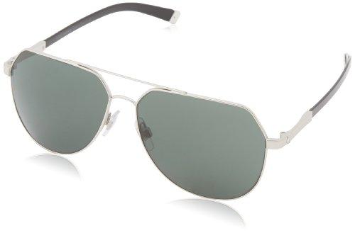 D&G Dolce & Gabbana Men'S 0Dg2133 Aviator Sunglasses,Shiny Silver Sand,60 Mm