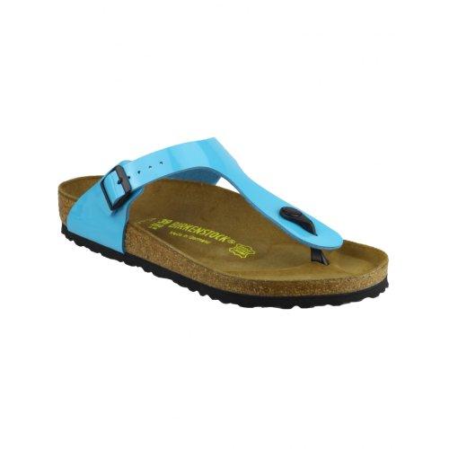 Birkenstock Gizeh Ladies / Womens Sandals (38 Eur) (Blue) front-857617