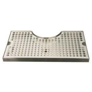 Surface Mount Drip Tray With Cutout No Drain Stainless (Low Flat Rate Shipping) front-39458