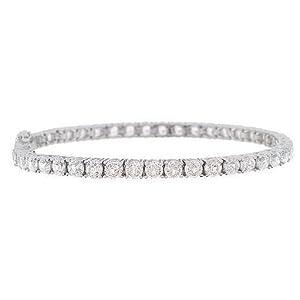 925 Sterling Silver Round cut Cubic Zirconia CZ Tennis Bracelet Fine Jewelry