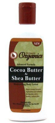 Ultimate Organic Cocoa Butter & Shea Butter Dry Skin Moisturizing Body Lotion 12 oz (3-Pack) with Free Nail File