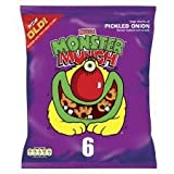 Walkers Monster Munch Pickled Onion Snacks 6 X 25G