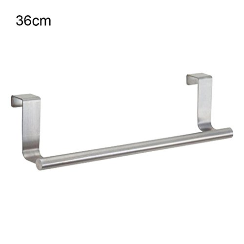T&me Cabinet Hanger Over Door Kitchen Hook Towel Rail Hanger Bar Holder Drawer Storage Bathroom Tools / 36cm,14.17 Inch (Towel Hook Radiator compare prices)
