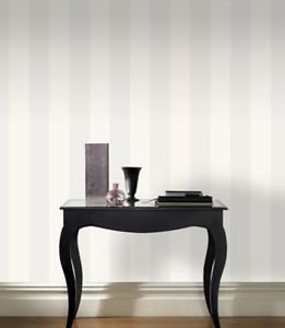 Rasch Glitter Stripe Wallpaper - White by New A-Brend