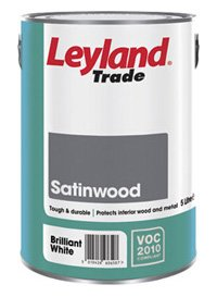 5 LTR LEYLAND TRADE SATINWOOD BRILLIANT WHITE