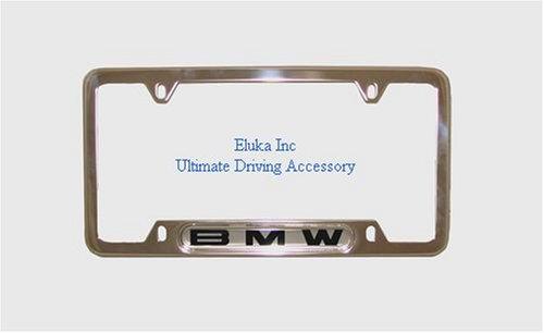 BMW License Plate Frame w/BMW Logo POLISHED stainless steel