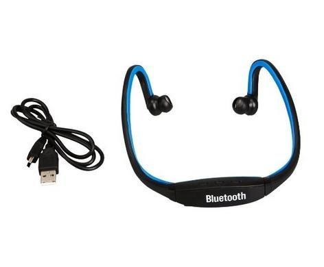 On The Way (Tm) Blue Wireless Bluetooth Headphones Headset Handsfree Stereo With Mic For Running Iphone 4,Iphone 5,Ipad 4,Ipad Mini,Ipod,Macbook Imac Sony Nokia Lumia 920 Samsung Galaxy 3,Galaxy 4 Htc Google Nexus Laptop Pc Skype, Msn, Ps2,Xbox Etc