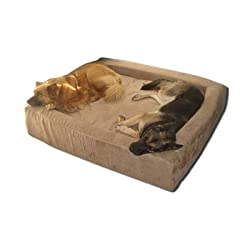 Comfort Nest Memory Foam Bolster Dog Bed Size