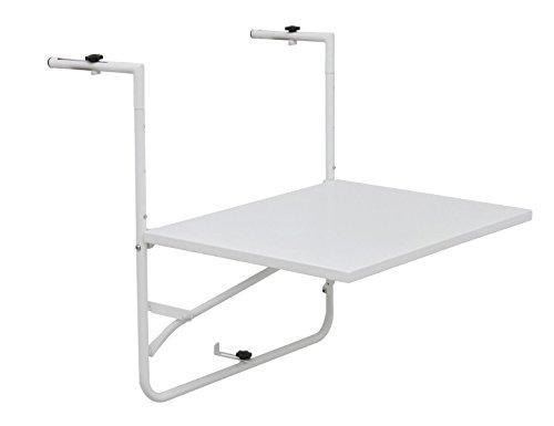 Siena Mybalconia 255023 Balkonhängetisch,matt-weiß Stahlgestell matt weiß