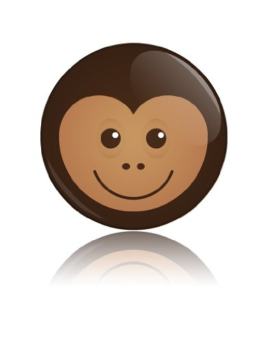 Cheeky Monkey Funny Art Button Badge Cool Retro Gift Present Baby Shower Birthday front-1088278