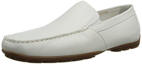 Geox Uomo Monet U1144V 00046 C1000 - Mocasines de cuero para hombre, color blanco, talla 42
